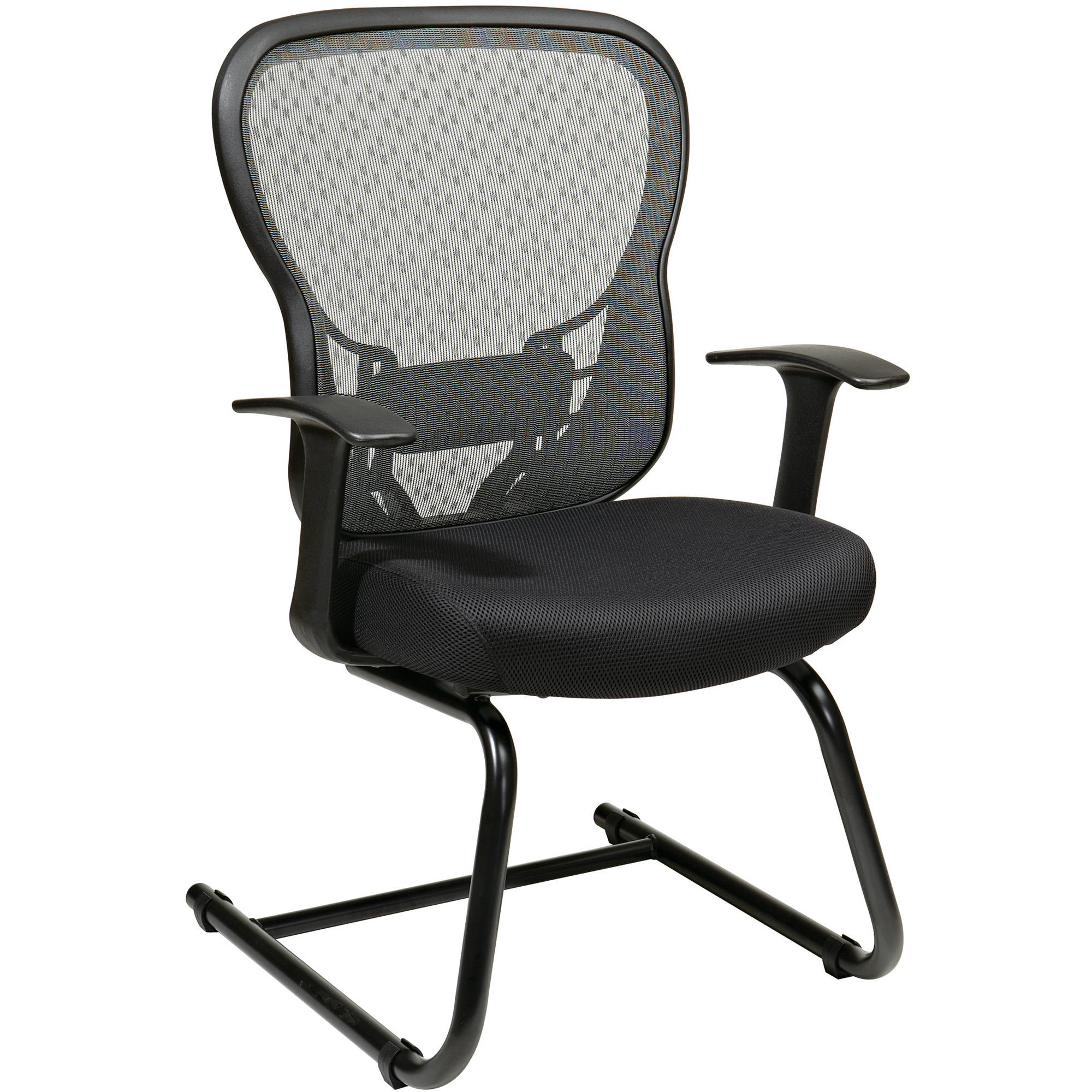 Space Seating Deluxe R2 SpaceGrid Back Visitors Chair, Black