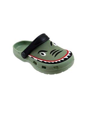 Spring Summer Toddler Boys' Shark Slingback Sandal Clogs For Beach, Pool or Everyday Wear - Assorted colors