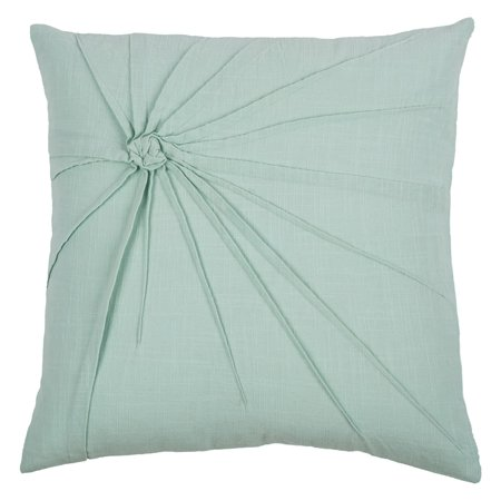Rizzy Home Decorative Poly Filled Throw Pillow Twisted Tacked Knot 18