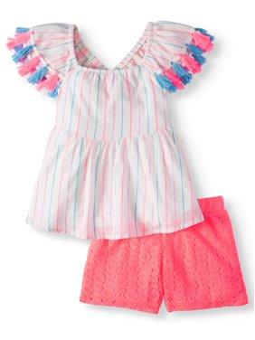 f299096af Product Image Forever Me Striped Tassel Top & Shorts, 2pc Outfit Set  (Toddler Girls)