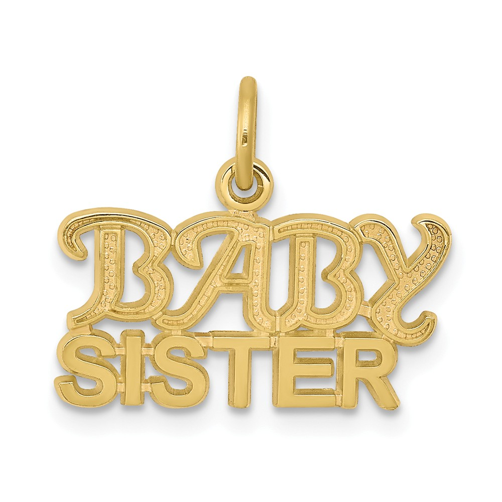 10k Yellow Gold Baby Sister Charm Pendant