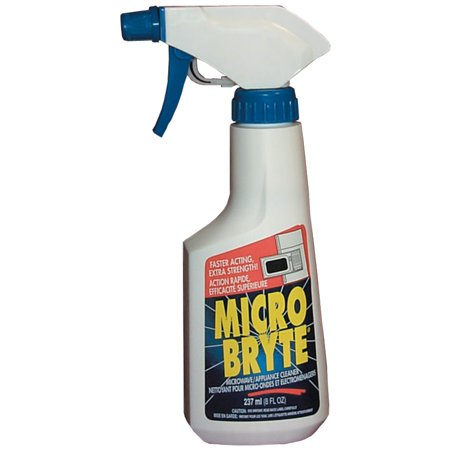 General Electric 10 Oz Micro Bryte Cleaner Quickly and easily cleans grease, grime, and food spills inside microwaves, refrigerators, and on all kitchen appliances and counter surfaces. Easy-to-use spray bottle quickly cleans grease and baked-on spills on all of your kitchen appliances.