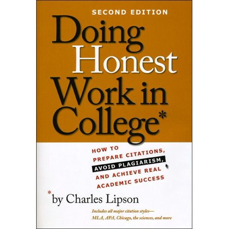 Doing Honest Work in College : How to Prepare Citations, Avoid Plagiarism, and Achieve Real Academic Success, Second Edition](How Does A Fog Machine Work)