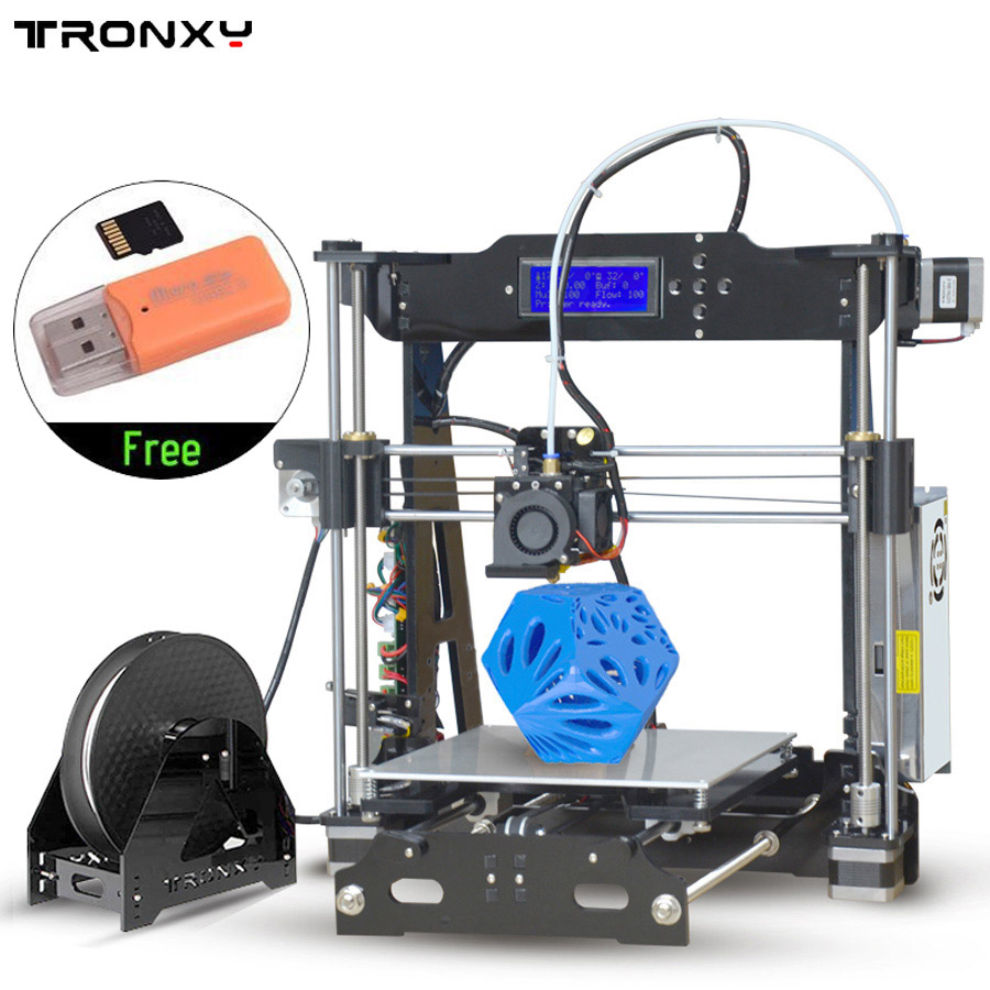 Click here to buy 2017 Best 3D Printer Latest Upgraded Quality High Precision Reprap Prusa I3 Black DIY 3D Printer by konxa.
