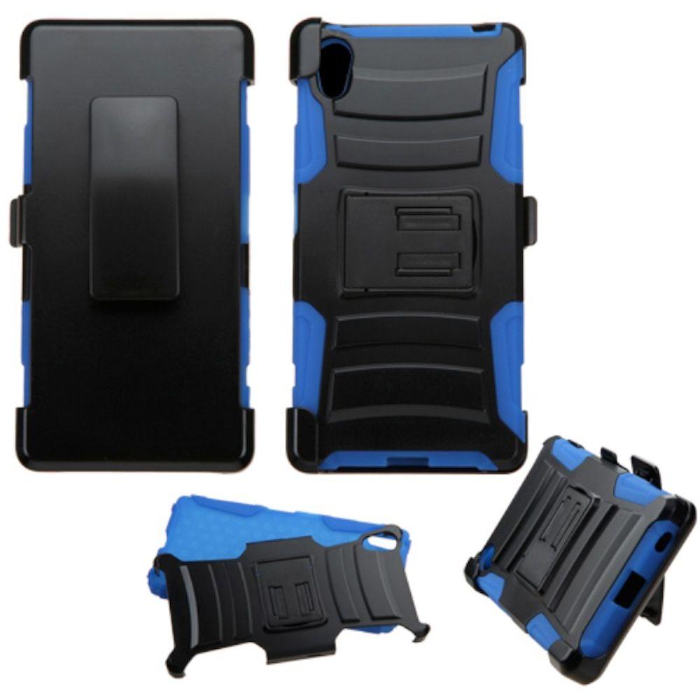 Sony Xperia Z5 Phone Case, Sony Xperia Z5 Case, by Insten Hard Hybrid Plastic Silicone Cover Case with Holster For Sony Xperia Z5 case cover - image 3 de 3
