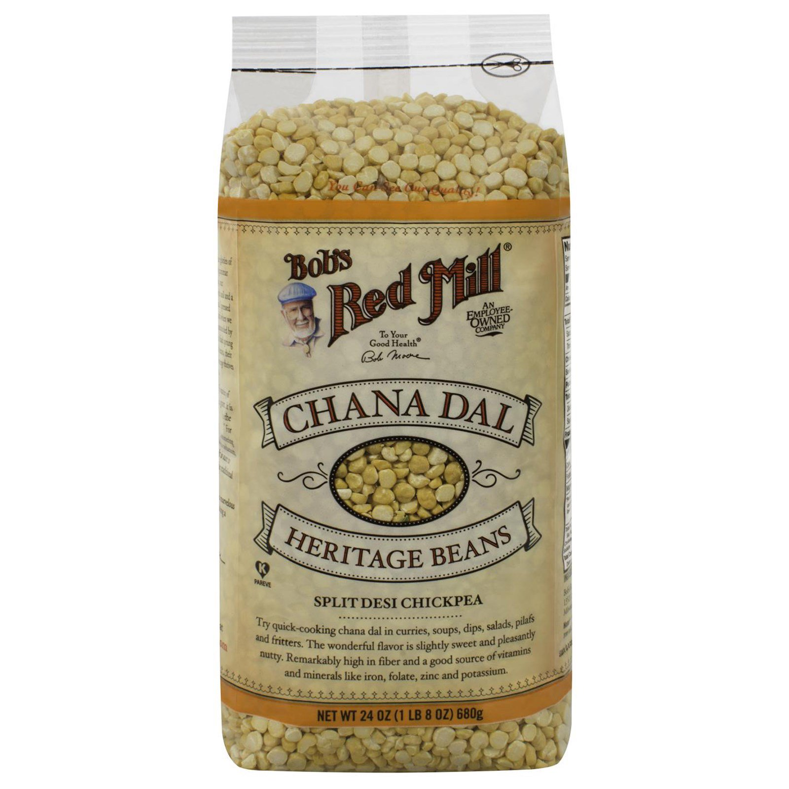 Bob's Red Mill, Chana Dal, Heritage Beans, 24 oz (pack of 1) by