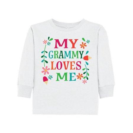 My Grammy Loves Me Girls Gift Apparel Toddler Long Sleeve T-Shirt - Girls Apparel