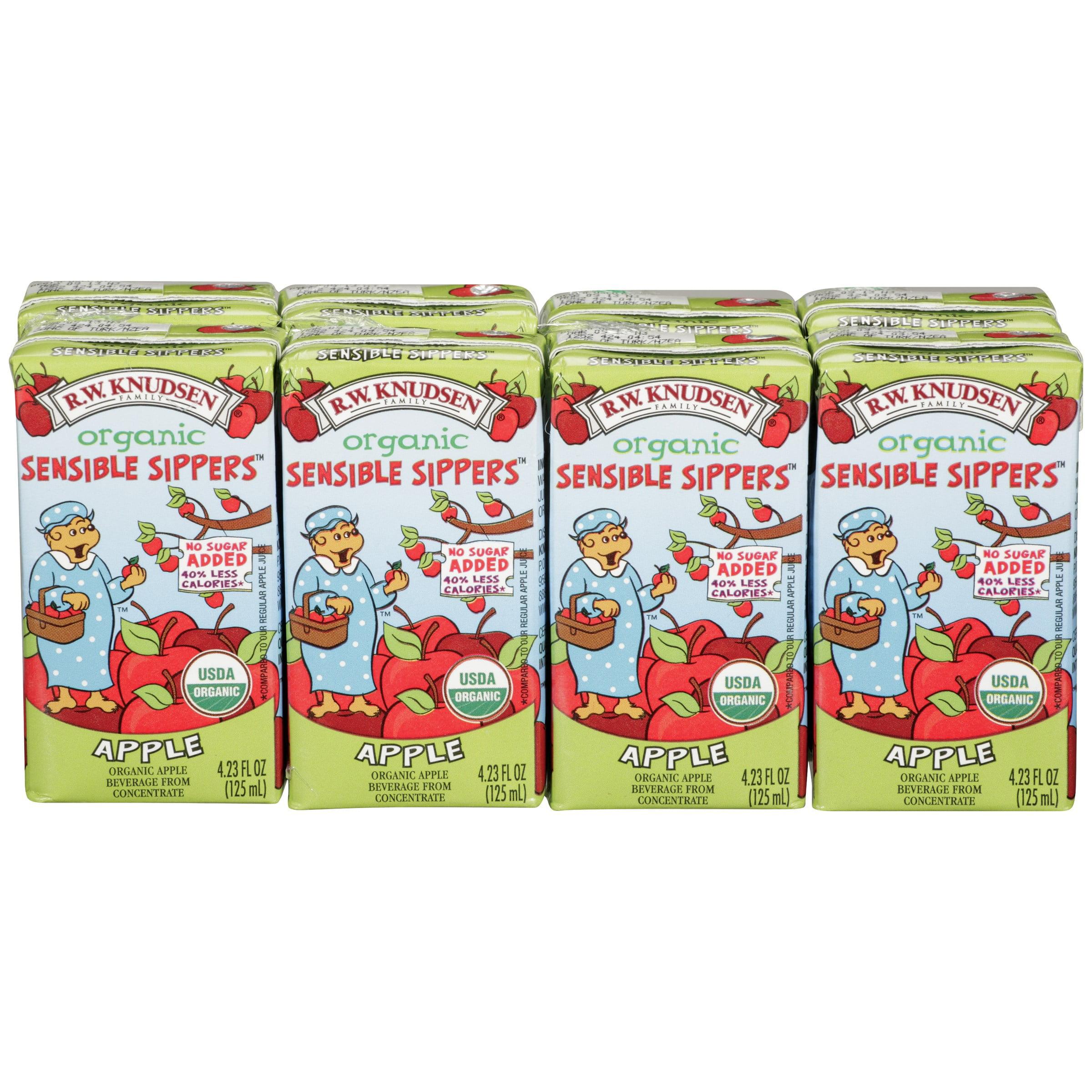 R.w. Knudsen Sensible Sippers Organic Apple Juice Box, 8 Ct (pack Of 5)