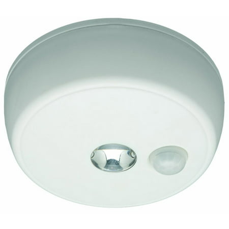 Mr. Beams MB980 Battery-Operated Indoor/Outdoor Motion-Sensing LED Ceiling Light, White