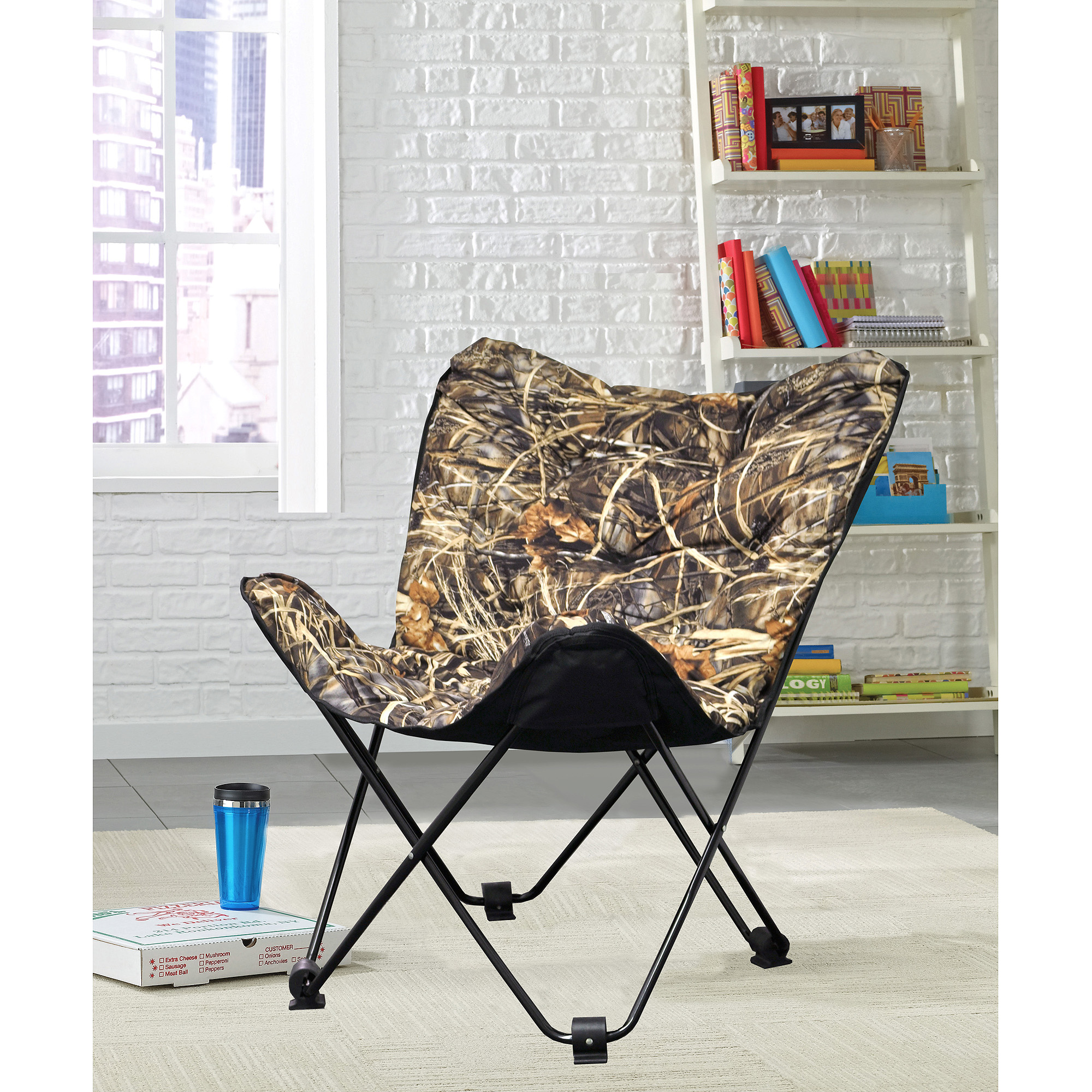 Realtree Soft Plush Folding Butterfly Chair
