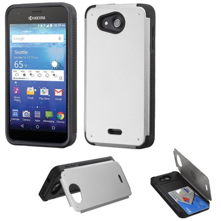 Credit Card Hybrid Kickstand Case for Kyocera Hydro Air / Hydro Wave - (Air Conditioner On Emi Without Credit Card)
