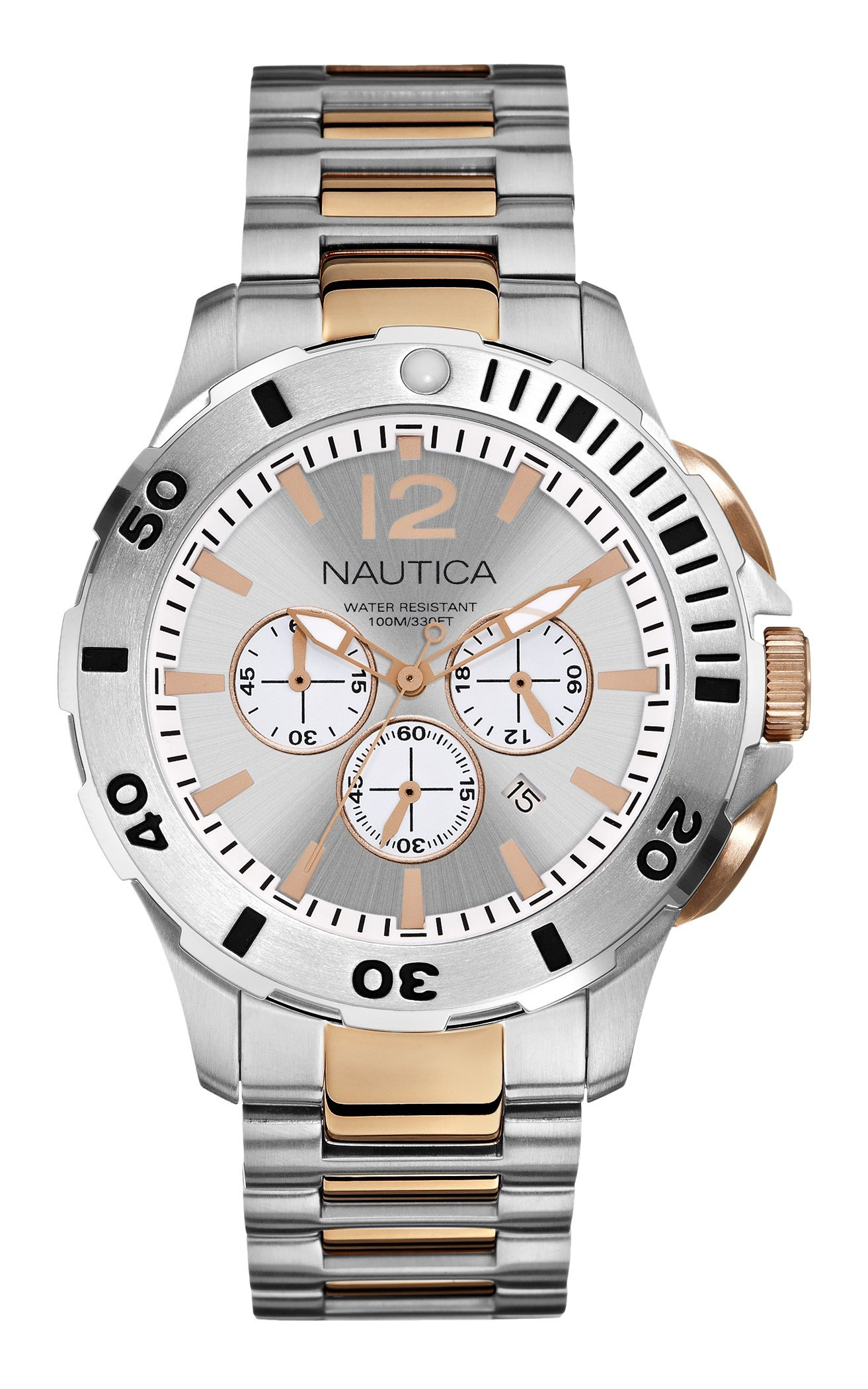 Nautica Men's N27525G Bfd 101 Dive Style Chrono Watch by 01TheOne