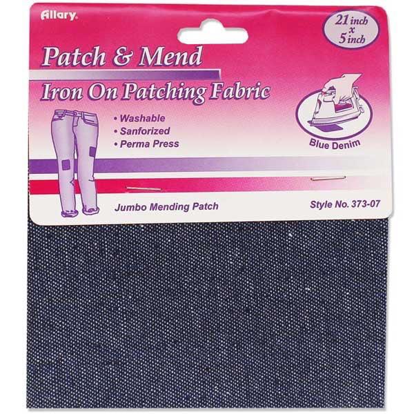 Allary Craft and Sew Blue Denim Iron on Patch Fabric
