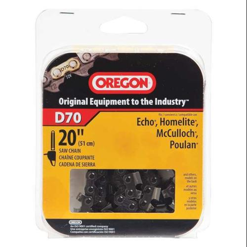 OREGON D70 Saw Chain, 20 In., .050 In., 3/8 In. Pitch