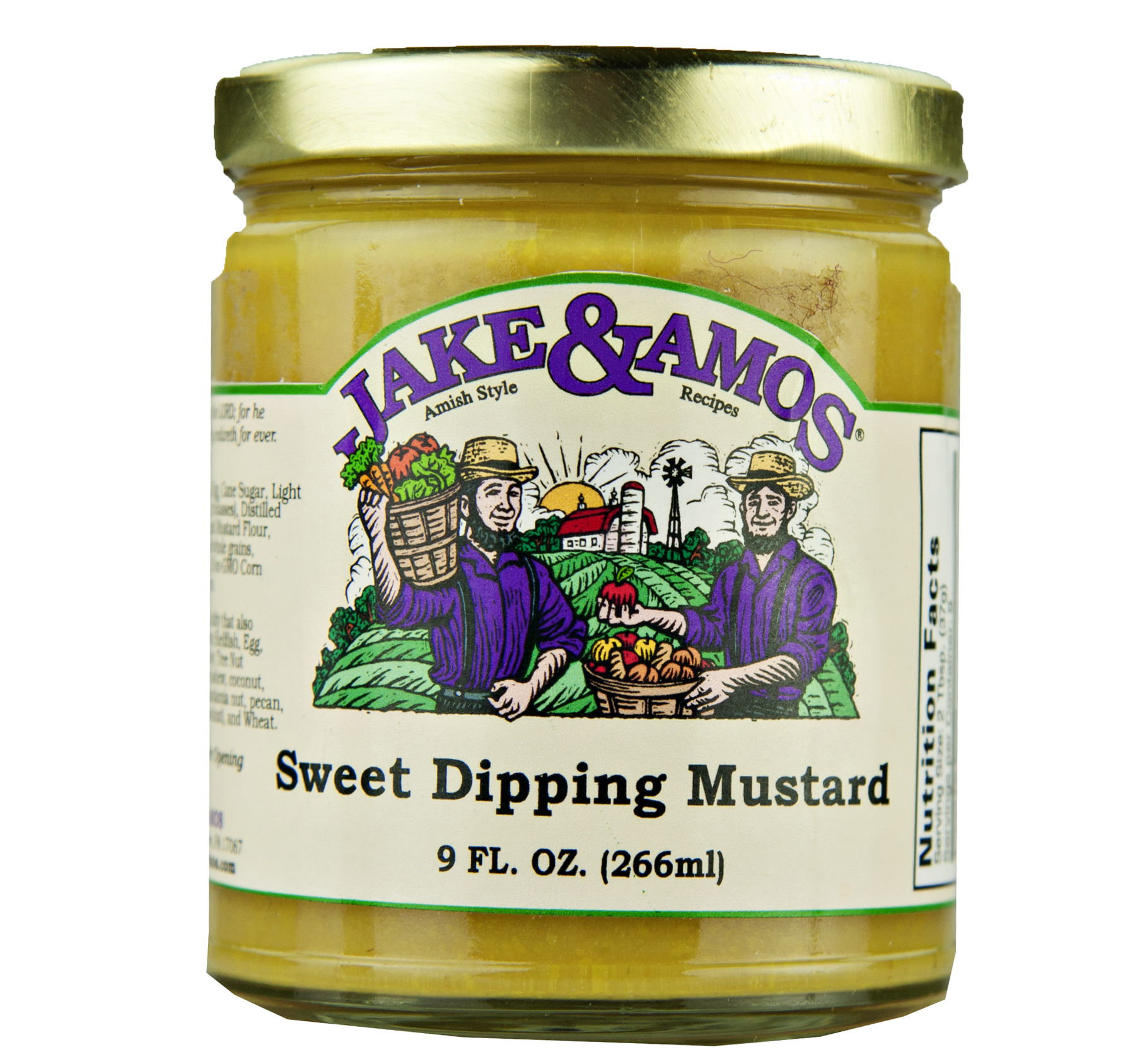 Jake & Amos Sweet Dipping Mustard 9oz (2 Pack)