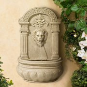 "John Timberland Roman Outdoor Wall Water Fountain 31"" High Regal Lion Face for Yard Garden Patio Deck Home Entryway"
