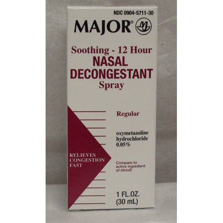 Major 12 Hour Nasal Decongestant Spray 1 oz.