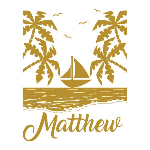 Harriet Bee Palms Boat Sticker Nursery Bedroom Wall Decal