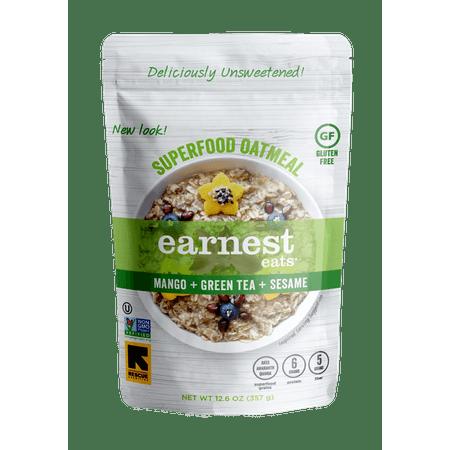 Earnest Eats Superfood Vegan Oatmeal, Mango Green Tea, 12.6 (Mango Tango Oatmeal)