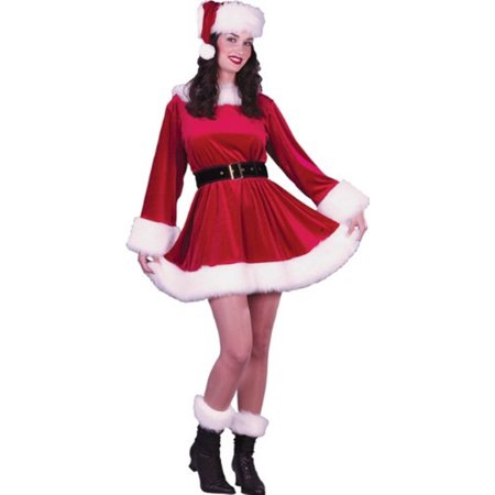 d0c62cde236 Ms. Santa Dress Mrs. Claus Christmas Costume Red Velvet Small Medium 2- ...