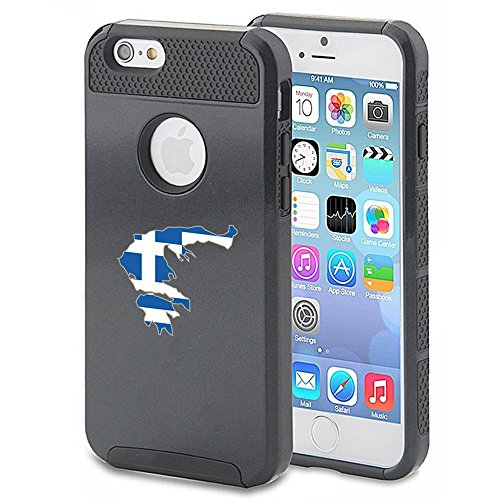 Apple iPhone 5 5s Shockproof Impact Hard Case Cover Greece Greek Flag (Black...