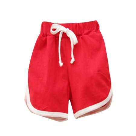 Outtop Infant Toddler Kids Girls Boys Candy Color Girls Short Hot Summer Beach (Two Hot Girls On A Hot Summer Night)
