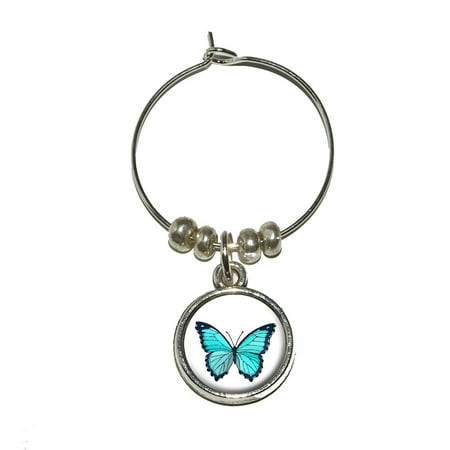 Butterfly Wine Glass Charm](Butterfly Glasses)