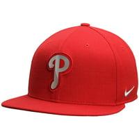 Men's Nike Red Philadelphia Phillies Metal Logo Adjustable Hat - OSFA
