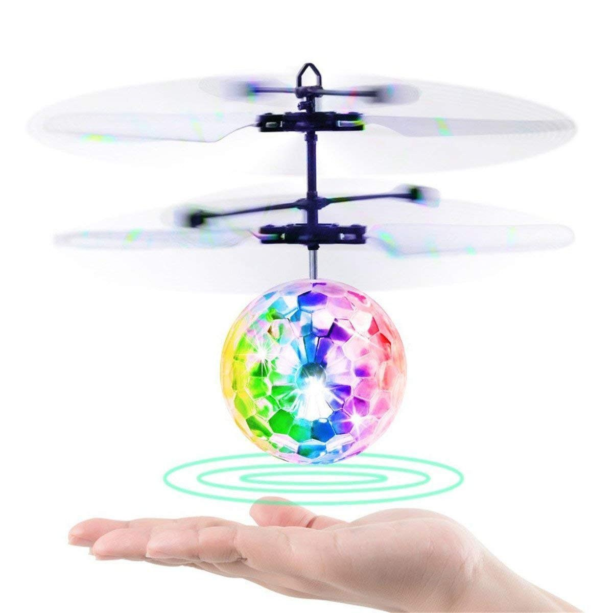 Hand Flying UFO Ball LED Mini Induction Suspension RC Aircraft Flying Toy Ball Christams Gift for Boys and Girls