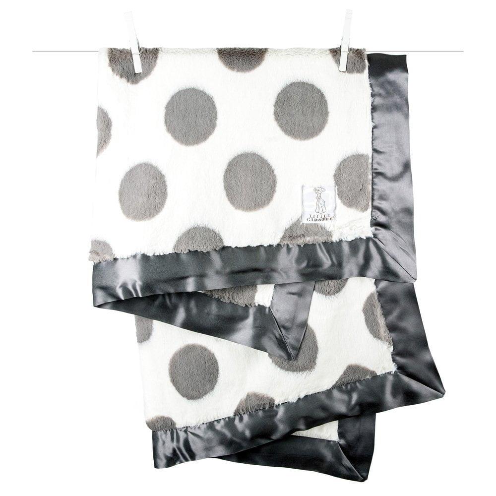 Little Giraffe Luxe Spot Baby Blanket - Charcoal
