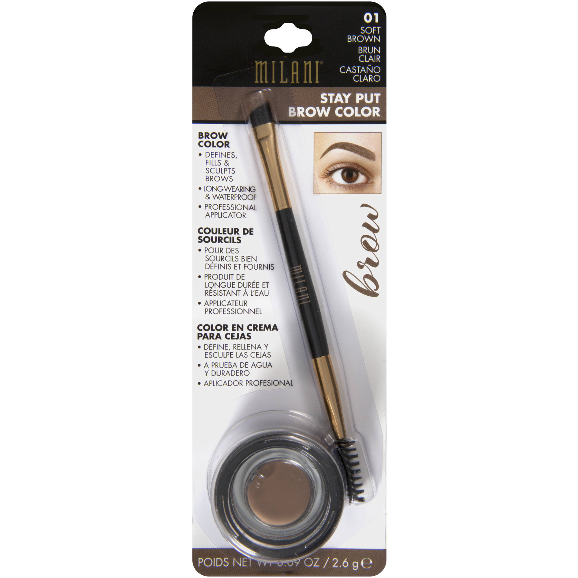 Milani Stay Put Brow Color, 0.09 oz