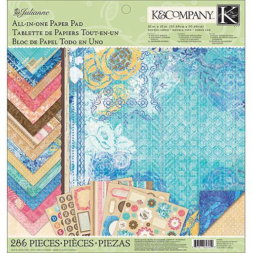 "K & Company Julianne Vintage 12"" x 12"" All-In-One Paper Pad"