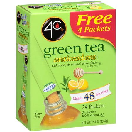 4C Thé vert Antioxydant avec du miel et de citron naturel - 24 CT