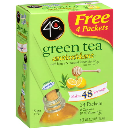 (3 pack) 4C Totally Light Drink Mix, Green Tea, 1.53 Oz, 20 Packets, 1 (Best Green Juice Mix)