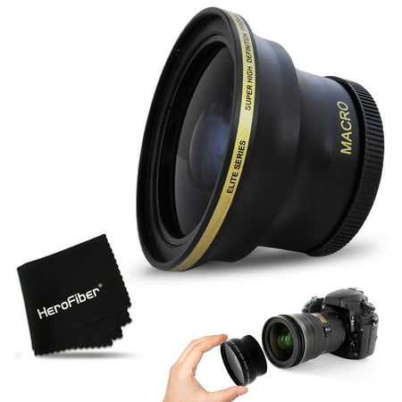 PRO 58MM Fisheye Lens for CANON EOS 80D, 70D, 60D, 7D Mark II, 6D, 5D Mark III, EOS REBEL T6i, T6S, T6, T5, T5i T4i T3, EOS 1300D, 1200D, 1100D EOS 760D, 750D, 700D 650D DSLR Cameras and 58mm Lenses (58 Fisheye)
