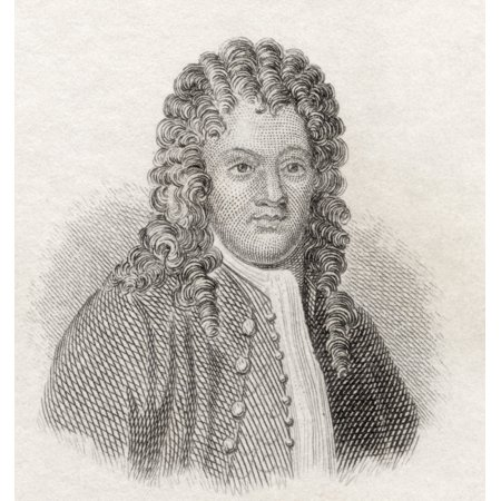 Sir Brook Taylor 1685 To 1731 English Mathematician Best Known For Taylors Theorem And The Taylor Series From Crabbs Historical Dictionary Published 1825 Stretched Canvas - Ken Welsh  Design Pics