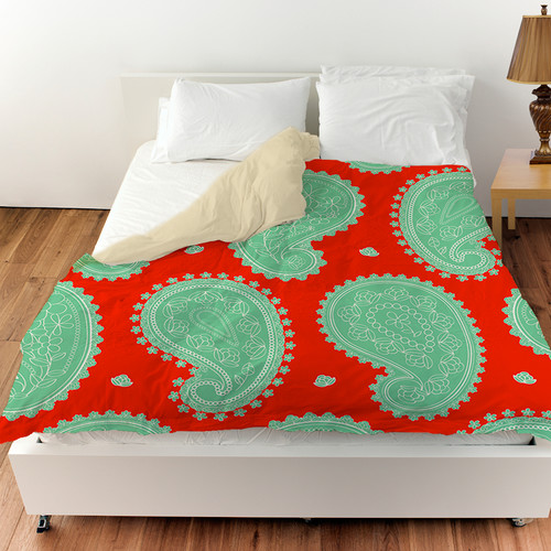 Manual Woodworkers & Weavers Paisley Floral Duvet Cover