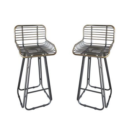 Peachy Pemberly Row Olivia Gray 30 Bar Stool With Seat Back Set Of Two Bralicious Painted Fabric Chair Ideas Braliciousco