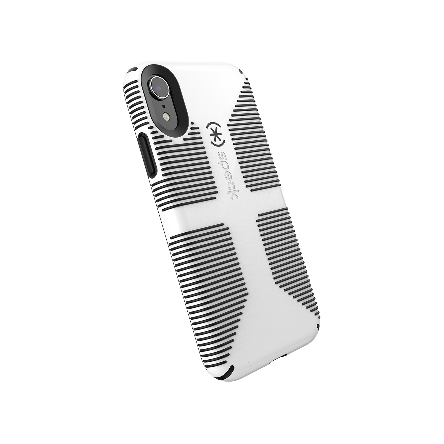 timeless design fa38c 7608f Speck Candyshell Grip Case for iPhone XR, White/Black