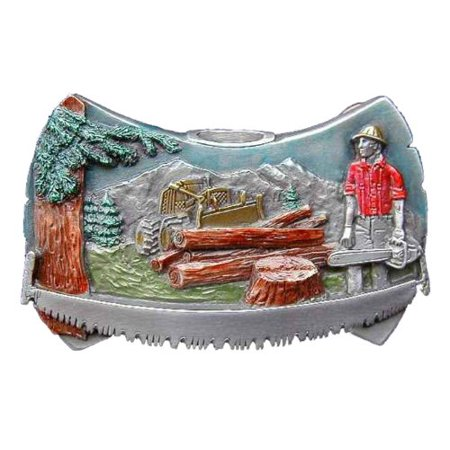 Logger Axe Head Colored Novelty Belt Buckle
