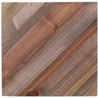 "Jillibean Soup Mix The Media Diagonal Wooden Plank, 8"" x 8"", Dark"
