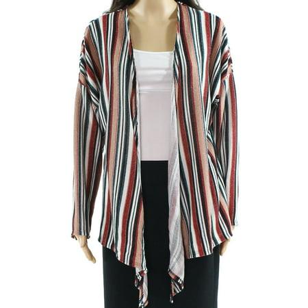 Large Junior Stripe Shimmer Cardigan Sweater L ()