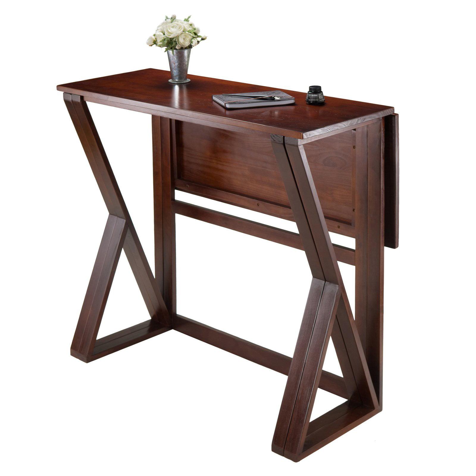 Harrington Drop Leaf High Table, Walnut - Walmart.com
