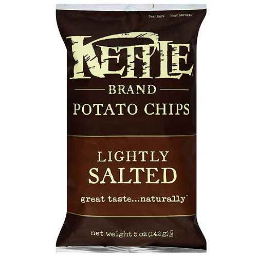 Kettle Brand Sea Salt Potato Chips, 5 oz (Pack of 15)