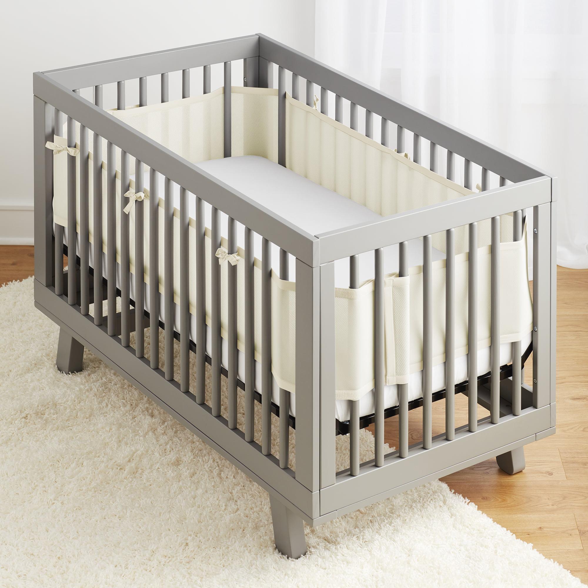 BreathableBaby® Classic Breathable® Mesh Crib Liner - Ecru