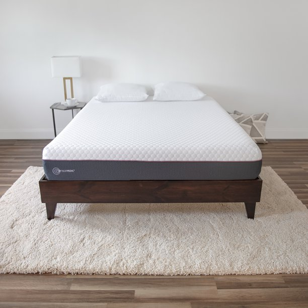 SensorPEDIC 10-Inch Plush 3-Layer Gel-Infused Memory Foam Mattress-in-a-Box - Twin XL