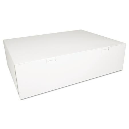SCT Bakery Boxes, White, Paperboard, 18 1/2 x 14 1/2 x 5, 50/Carton