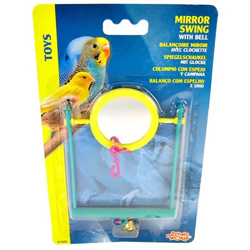 Living World Plastic Mirror Swing with Bell Plastic Mirror Swing with Bell