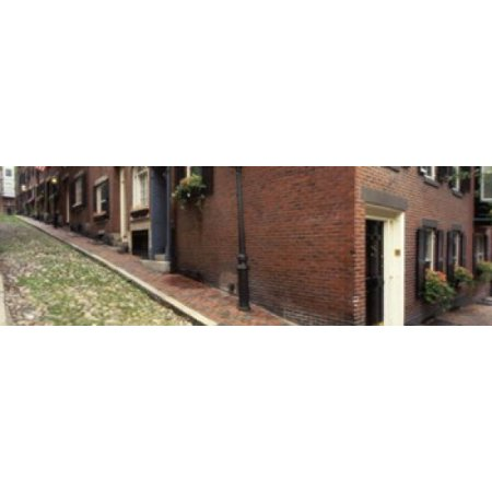 USA Massachusetts Boston Beacon Hill Stretched Canvas - Panoramic Images (36 x 12) Beacon Hill 12 Light