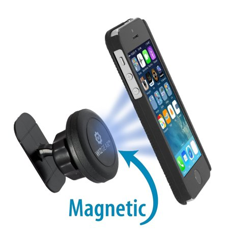 - WizGear Universal Stick On Dashboard Magnetic Car Mount Holder, for Cell Phones and Mini Tablets with Fast Swift-snap Technology